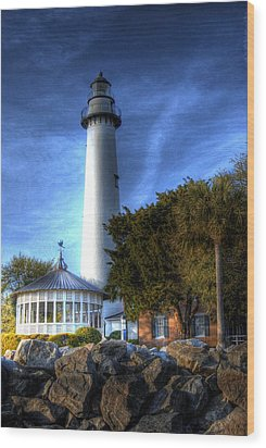 Jekyll Island Lighthouse Wood Print