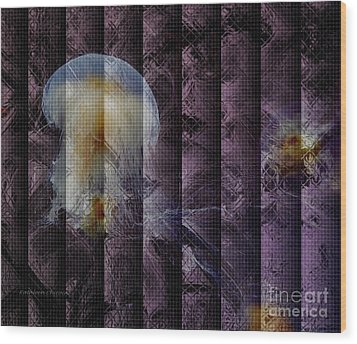 Jellies Wood Print by Kathie Chicoine