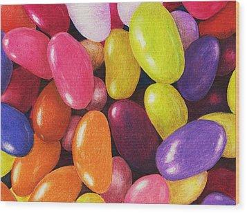 Jelly Beans Wood Print by Anastasiya Malakhova