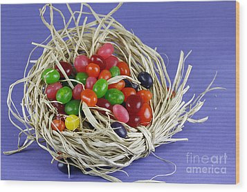 Jelly Beans Wood Print by Denise Pohl