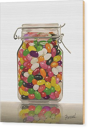Wood Print featuring the painting Jelly Beans by Ferrel Cordle