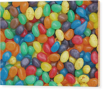 Wood Print featuring the digital art Jelly Beans by Ron Harpham