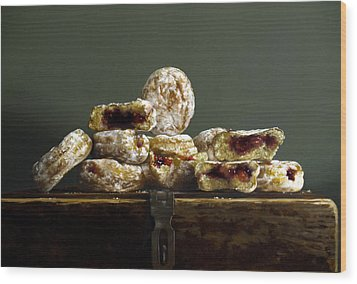 Jelly Donuts Wood Print by Larry Preston