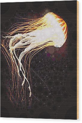 Jelly Fish 2 Wood Print by Cindy Edwards