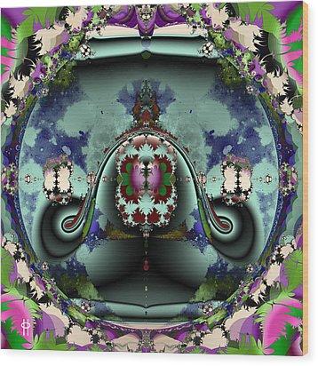 Jellyfish Bowl Wood Print by Jim Pavelle