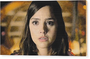 Jenna-louise Coleman - The Doctor's Companion Wood Print by David Blank