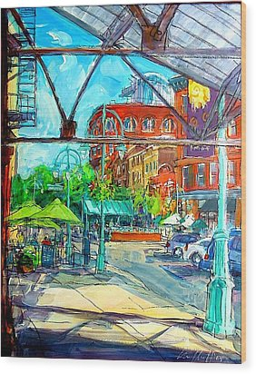 Jennaro's View Wood Print by Les Leffingwell
