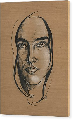 Jennifer Connelly Wood Print by John Ashton Golden