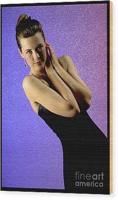 Jennifer Formal Lbd Wood Print by Gary Gingrich Galleries