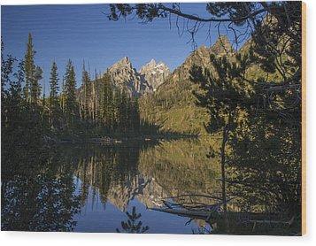 Jenny Lake Wood Print by Michael J Bauer