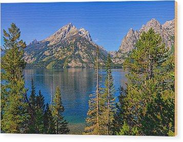 Jenny Lake Overlook Wood Print