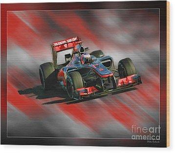 Jenson Button  Wood Print