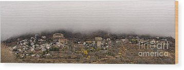 Jerome Arizona Beneath The Clouds Wood Print