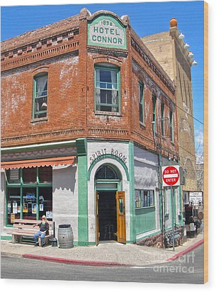 Jerome Arizona - Hotel Conner - 02 Wood Print by Gregory Dyer