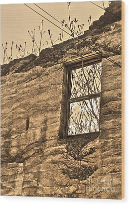 Jerome Arizona - Ruins - 01 Wood Print by Gregory Dyer
