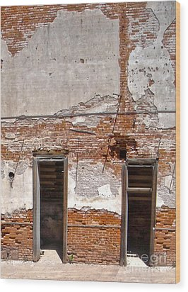 Jerome Arizona - Ruins Wood Print by Gregory Dyer