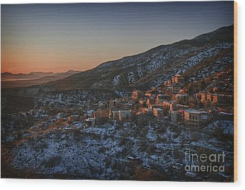 Wood Print featuring the photograph Jerome Sunrise From Sunshine Hill by Ron Chilston