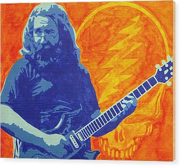 Jerry Garcia Wood Print by Doran Connell