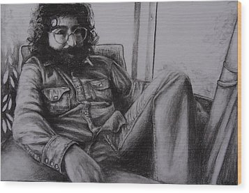 Jerry Garcia In '72   Wood Print