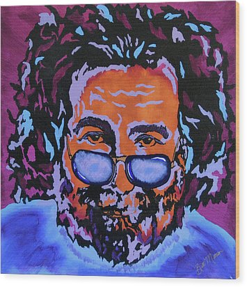 Jerry Garcia-it's A Me Thing Wood Print by Bill Manson