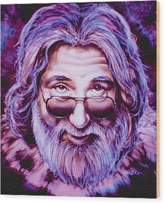 Jerry Garcia Wood Print by Mike Underwood