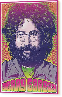 Jerry Garcia Pop Art Wood Print