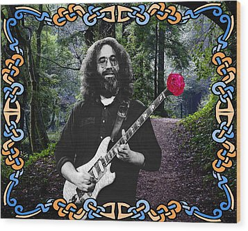 Jerry Road Rose 1 Wood Print by Ben Upham