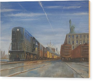 Jersey Central Lines Wood Print by Christopher Jenkins