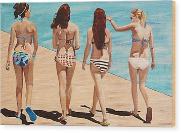 Jersey Girls Point Pleasant Wood Print by Kevin Callahan