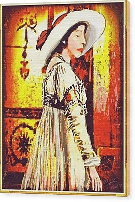 Jersey Lil Langtry Wood Print by Larry Lamb