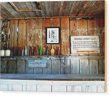 Jersey Lilly Saloon Wood Print by Avis  Noelle