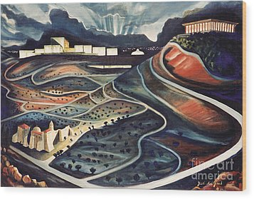 Jerusalem Diamonds Wood Print by Yael Avi-Yonah