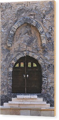 Jerusalem Doorway Wood Print