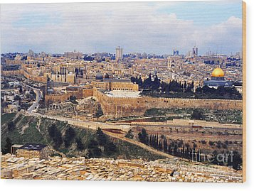 Jerusalem From Mount Olive Wood Print