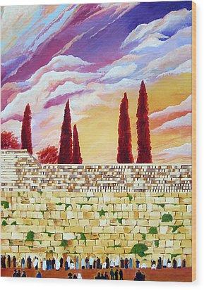 Jerusalem Prayers Wood Print