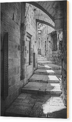Jerusalem Street Wood Print by Alexey Stiop