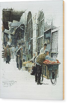 Jerusalem Street Wood Print by Graham Braddock