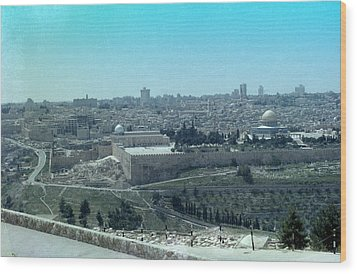 Wood Print featuring the photograph Jerusalem by Tony Mathews
