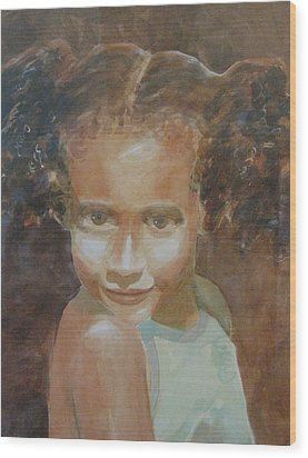 Wood Print featuring the painting Jessica by John  Svenson
