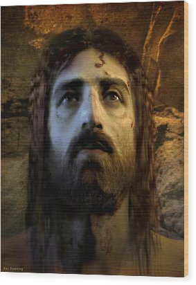 Jesus Alive Again Wood Print by Ray Downing