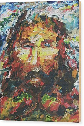 Jesus Are You There Wood Print by Suzanne  Marie Leclair