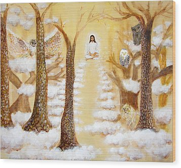 Jesus Art - The Christ Childs Asleep Wood Print by Ashleigh Dyan Bayer