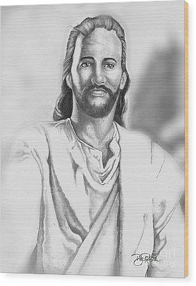 Jesus Wood Print by Bill Richards
