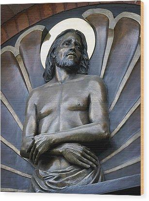 Jesus Cathedral Icon -  Spokane Washington Wood Print by Daniel Hagerman