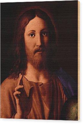 Wood Print featuring the digital art Jesus Christ by A Samuel