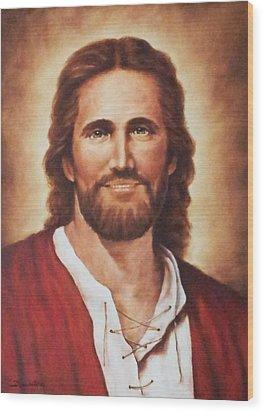 Jesus Christ Wood Print by Bryan Ahn