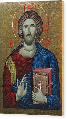 Jesus Christ Wood Print by Claud Religious Art