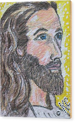 Jesus Christ Wood Print by Kathy Marrs Chandler