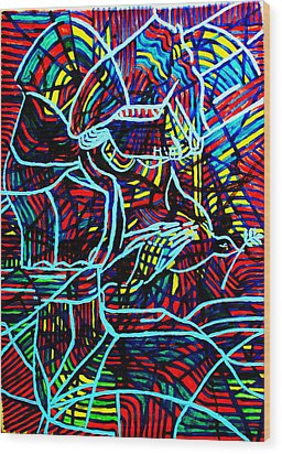 Jesus Christ - King Of Peace Wood Print by Gloria Ssali