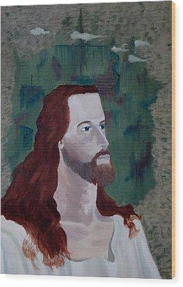 Jesus Christ Wood Print by Susan Roberts